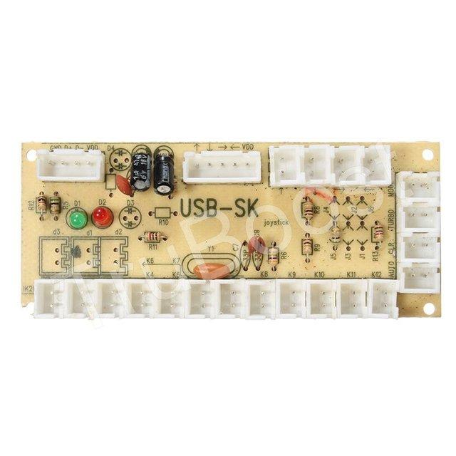 DIY Zero Delay Arcade Replacement Parts Mayitr USB Arcade Encoder PC to Joystick And 4.8mm Wire Cables