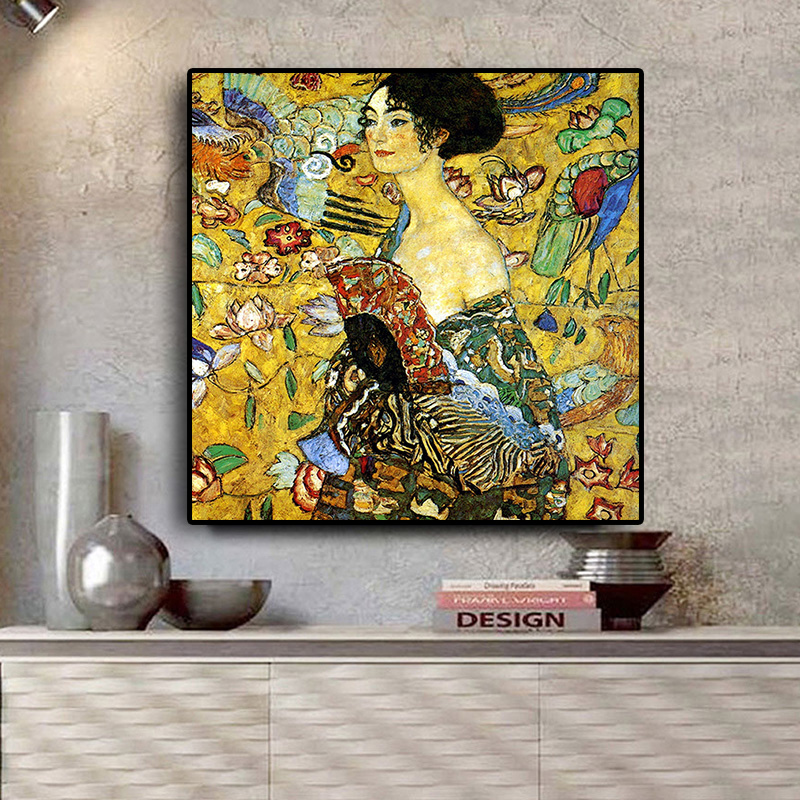 Signora By Gustav Klimt Reproduction Oil Painting On Canvas Scandinavian Pop Art Posters And Prints Wall Picture For Living Room