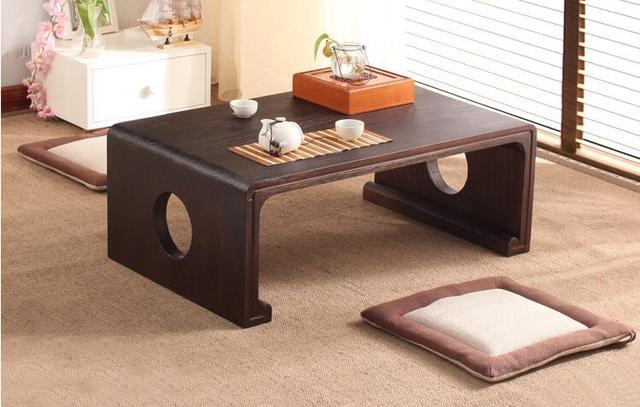 Japanische Antike Konsole Rechteck 80*50 Cm Asiatischen Möbel Wohnzimmer  Oriental Traditionellen Holzboden Tee Tisch