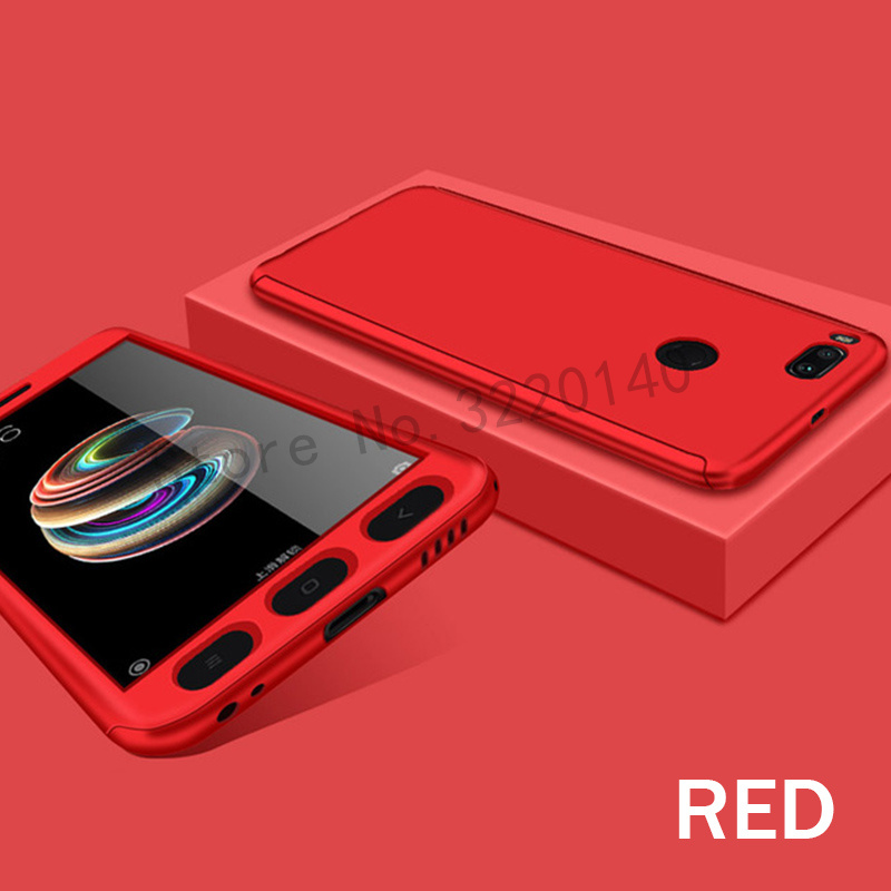 360 Degree Full Cover Cases For Xiaomi MI A1 mi 5x case Phone shell For Xiaomi redmi Note 4 4X case For redmi 4A 4X With Glass12