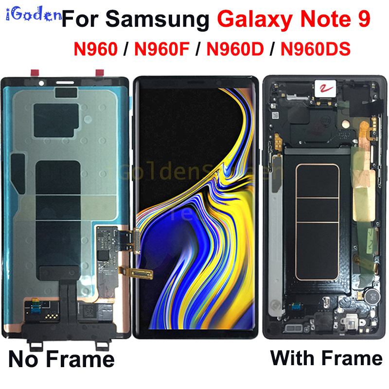 Amoled For Samsung Galaxy Note 9 LCD Display Touch Screen Digitizer Assembly with Frame For Samsung