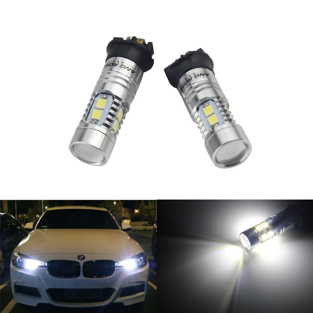 ANGRONG 2x Genuine Samsung PW24W <font><b>PWY24W</b></font> LED Bulbs Turn Signal Driving Day Running Light image