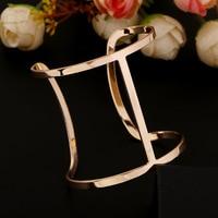 Exaggeration Punk Gold Bracelet Femme 2015 Brand Fashion Bracelets New Design Opening Round Cuff Bracelets Bangles