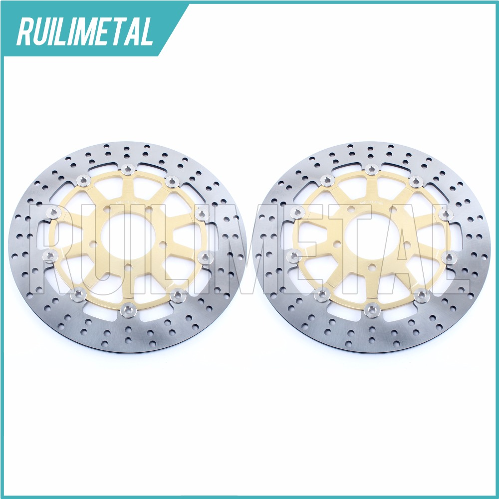 NEW Pair Front Brake Discs Disks Rotors for SUZUKI GSXR 600 04 05 GSXR 750 2004 2005 GSXR 1000 2003 2004 03 04 full set front rear brake discs disks rotors pads for suzuki gsxr 750 94 95 gsx r 1100 p r s t 1993 1994 1995 1996
