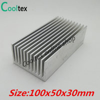 100 New 100x50x30mm Aluminum HeatSink Heat Sink Radiator For DIY Electronic Computer Chip RAM GPU LED