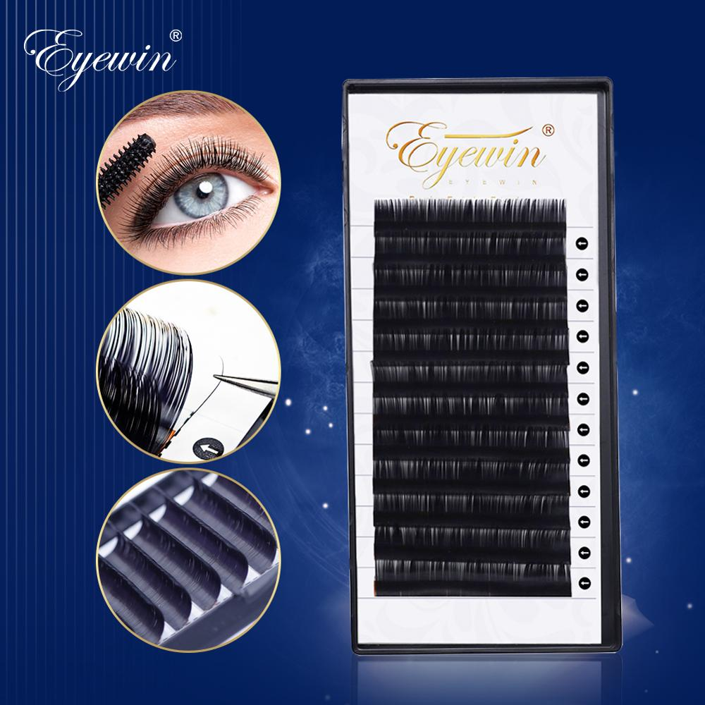Eyewin Individual Eyelashe C/D Crul Mix False Lash Natural Long Maquiagem Makeup Cilios Cils Volume Faux Mink Eyelash Extension