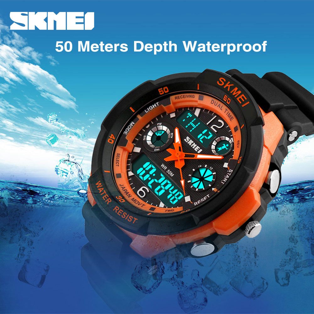 SKMEI Kids Watches Anti-Shock 5Bar Waterproof Outdoor Sport Children Watches Fashion Digital Watch Relogio Masculino
