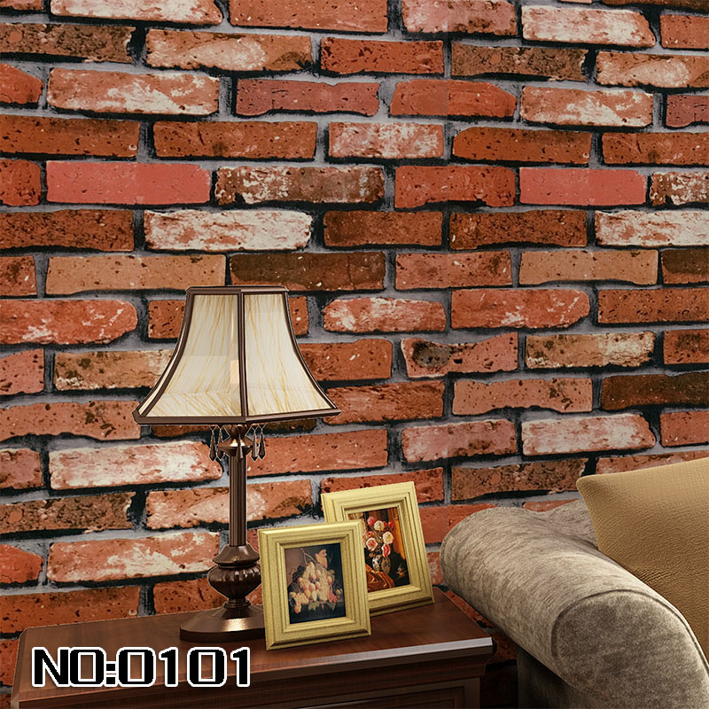 beibehang dining room 3D wall paper roll stone brick design background vinyl wallpaper roll modern for living room wallcovering beibehang stone brick wall 3d wallpaper roll modern retro pvc vinyl wall bedroom living room background wallpaper for walls 3 d