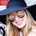 TRIUMPH VISION HD Поляризованные Очки Авиатора Женщин Розовый Зеркало Пилотные Солнцезащитные Очки Polaroid Женщины Марка Оттенки Óculos Женский