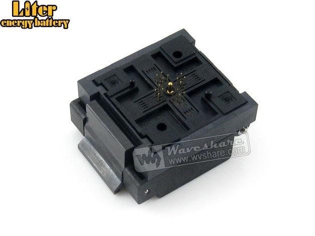 QFN16 MLP16 MLF16 QFN-16BT-0.65-01 QFN Enplas 0.65Pitch 4x4mm IC Testing Burn-in Socket Programming Adapter With Ground Pin