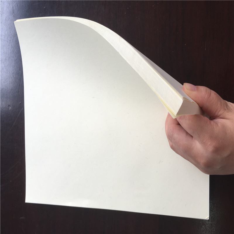 500pieces A4 75gsm 75% cotton 25% linen paper bank note paper white color  with invisible color fiber