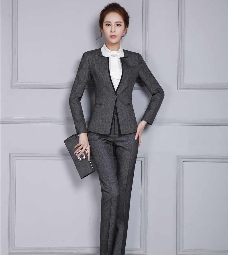 Modne w paski jesienne zimowe formalne profesjonalne spodnie