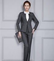 New Autumn Winter Professional Pantsuits With Jackets And Pants Office Ladies Business Women Pant Suits Female