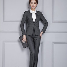 New Autumn Winter Professional Pantsuits With Jackets And Pants Office ladies Business Women Pant