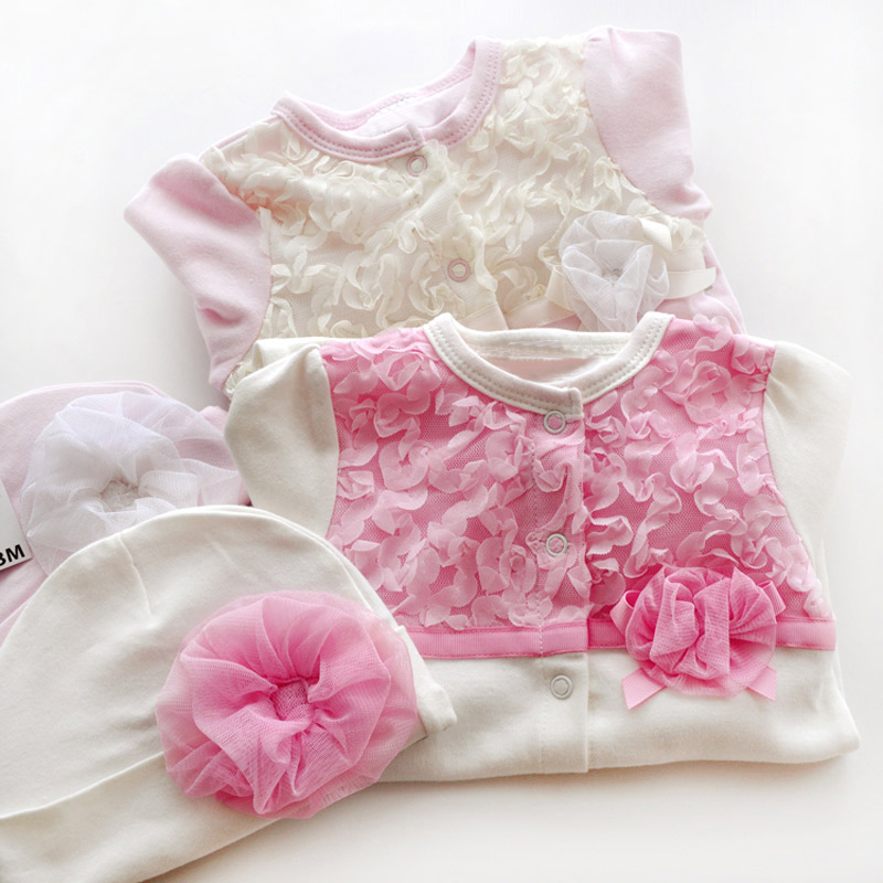 Newborn-Cute-Floral-Cotton-Baby-Girl-Rompers-Infant-Lace-Bow-Knot-RomperHat-Children-Clothes-Sets-Long-Sleeve-Toddler-Jumpsuit-5