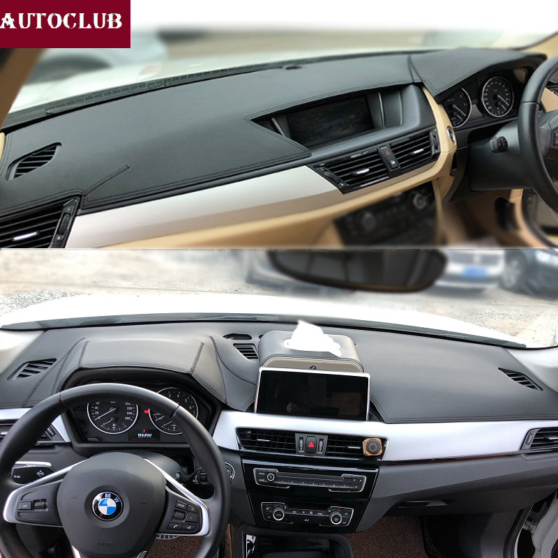 For BMW X1 X2 E84 F48 2009 2019 Leather Dashmat Dashboard