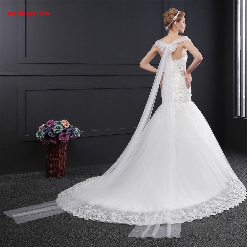 Licou perlée robe De mariée sirène 2017 photos réelles dentelle robe De mariée licou Tulle robe De mariée robe De mariée Vestido De Noiva - 2