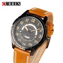 2017 CURREN Montres De Mode Casual Hommes montre Sport Horloge Mâle Militaire Quartz Montre-Bracelet En Cuir Montre Relogio Masculino 8267