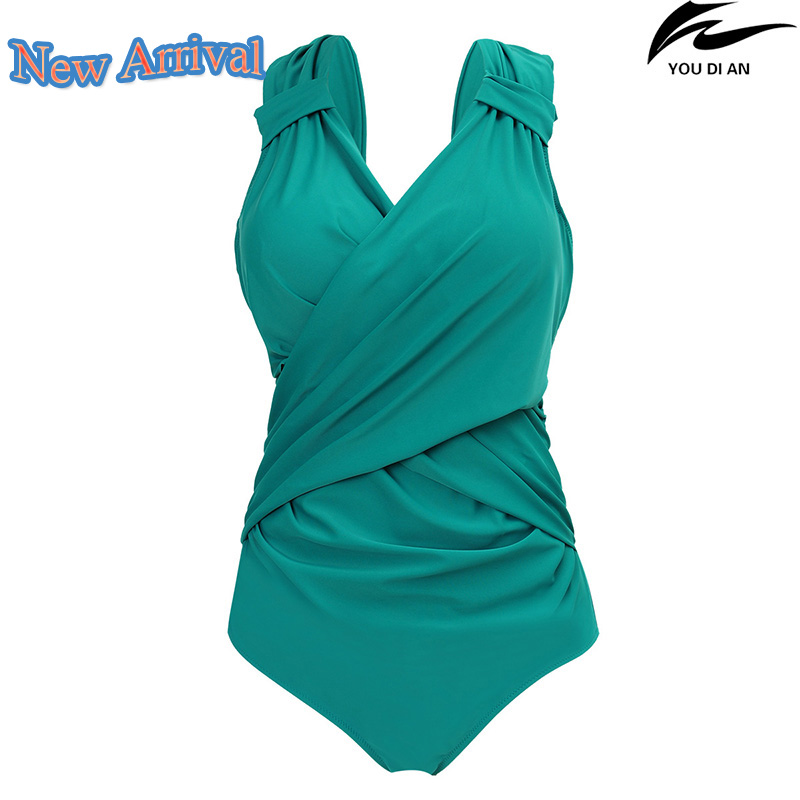 2017 new solid color women swimwear one piece large size Russian swimsuit plus size beachwear bathing wear swimming suit women one piece swimsuit cover up swimwear large size skirt swimming beachwear drape bathing suit 2017 plus size dress