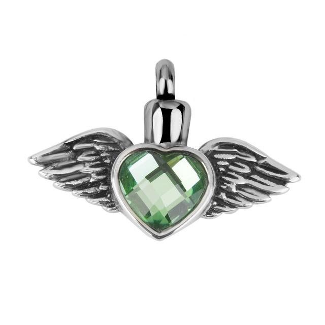 Rhinestone Heart Urn Pendant