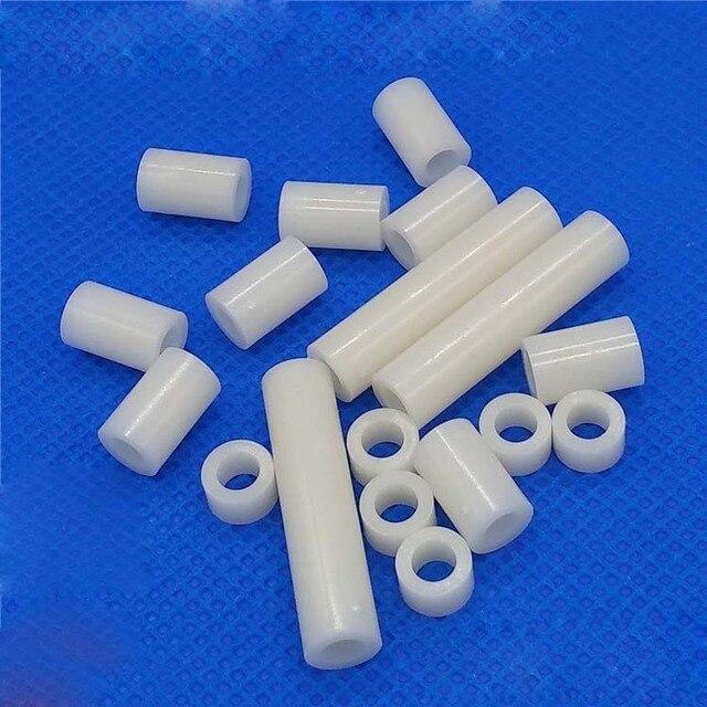 50pcs M4 nylon cylindrical washers gasket plastic isolation column ...