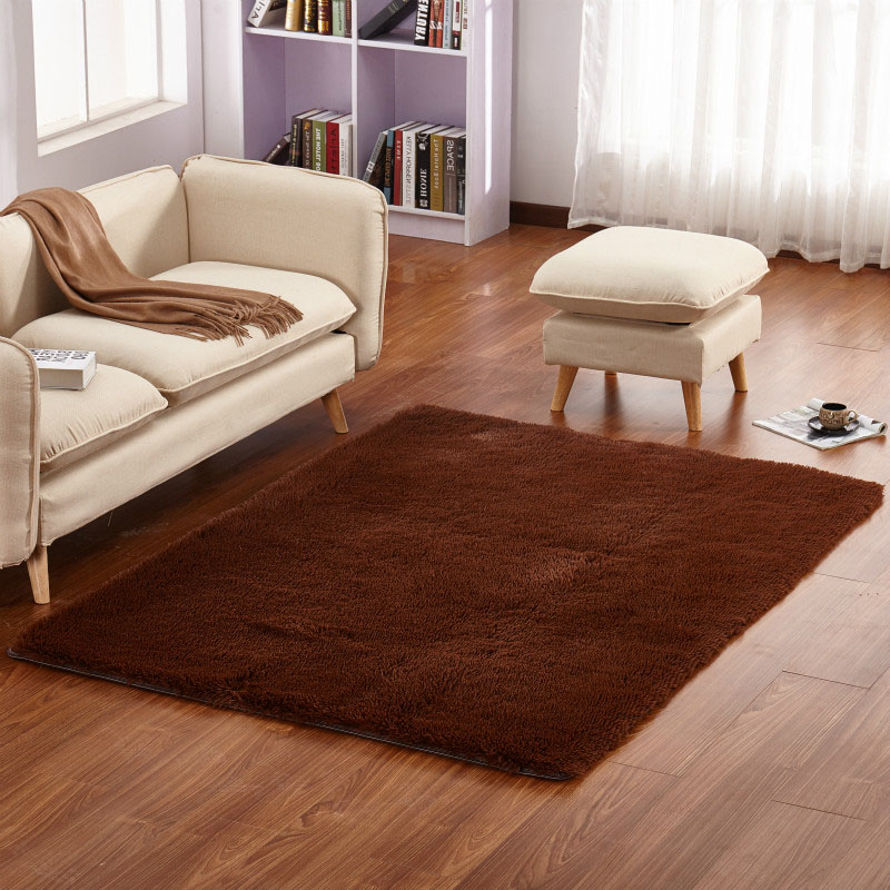 Home Soft Mats Carpet Sofa Coffee Table Plush Non Slip Rug Bedroom Living Room Mat 4040cm Hot Sale