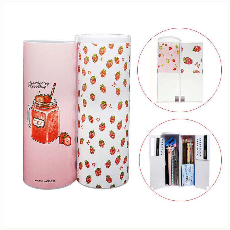 Cute Cartoon School Pencil Cases Multi-function Cylindrical Kawaii Creative Newmebox Stationery For Teenage Girls Gift For Boys