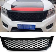pickup car accessories honeycomb mesh grille RACING GRILLS ABS grill  FIT FOR NAVARA NP300 D23 2015-2017 CAR STYLING ACCESSORIES