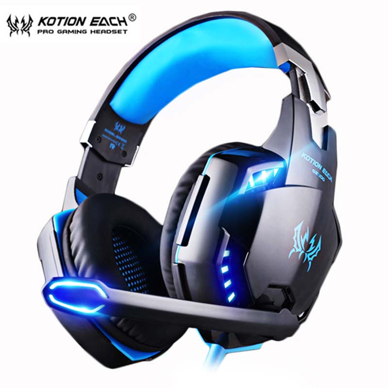 KOTION EACH PS4 Gaming Headset Deep bass Stereo Casque Wired Game Earphones Gaming Headphones with Microphone for PS4 PC Laptop image