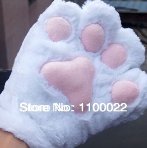 Cat Foot Paw Gloves Cute Cosplay Gloves Fancy Neko Anime Kitty Party