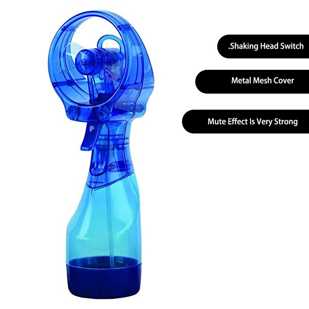 Portable Handhold Water Mist Fan 2In1 Functions Powerful Fan Water Cooling Spray Fan Humidification Fan