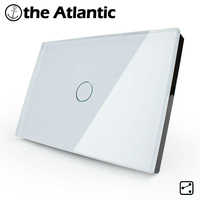 US/AU 1 Gang 2 Way,Wall Light Touch Screen Switch,Crystal Glass Switch Panel,Can not be remotely controlled