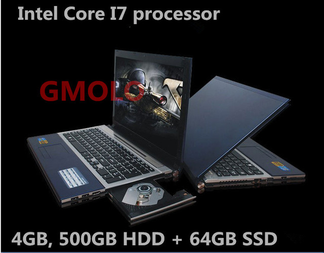 "15.6"" In-tel Core I7 gaming laptop notebook 4GB & 500GB HDD 64GB SSD camera WIFI Windows 8 computer"