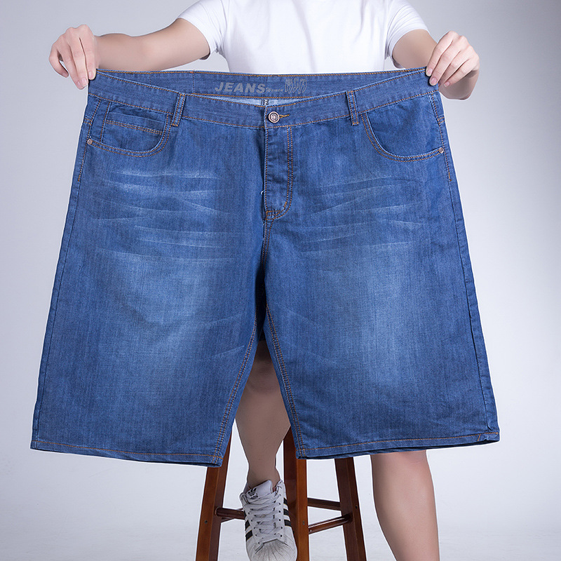 2018 Summer Men Jeans Short Plus Size 28-44 46 48 Inch Waist HIP HOP Loose Brand Style Design ...