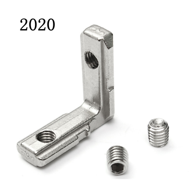 цена на T Slot L-Shape 2020 3030 4040 4545 Aluminum Profile Interior Corner Connector Joint Bracket