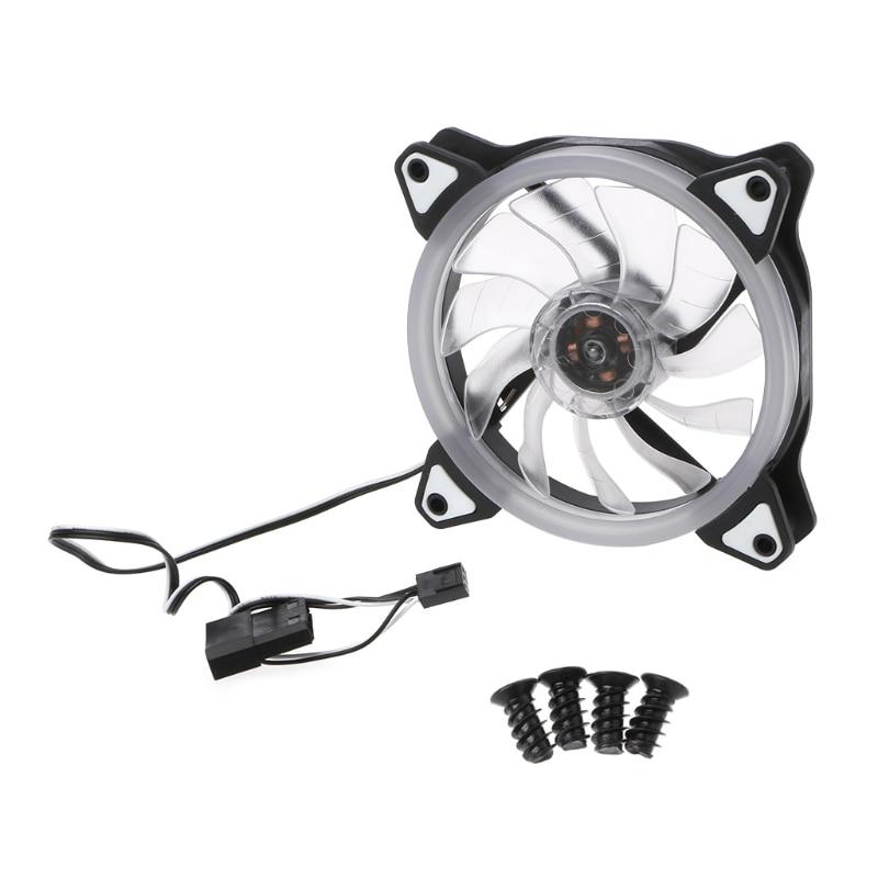 DC 12 V 3 + 4 Pin 120x120x25mm LED Fan RGB 12025 PC Boîtier de L'ordinateur de refroidissement Radiateur-PC Ami