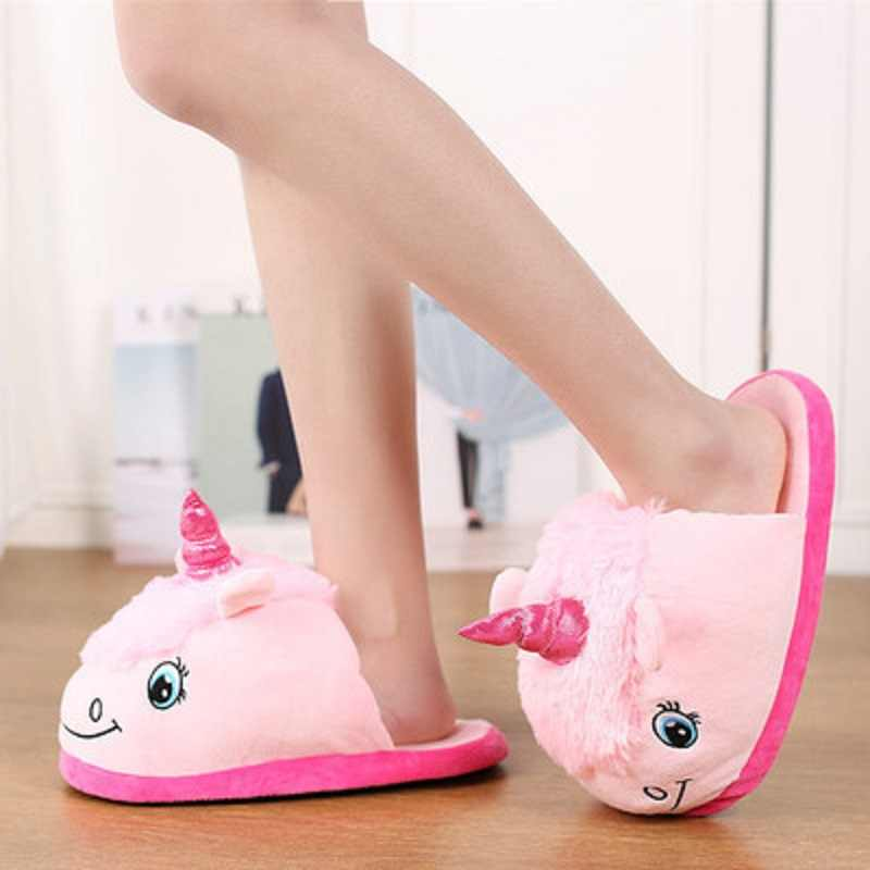 Girls Unicorn Slippers Winter Shoes for