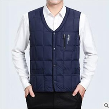 New Mens Jacket Sleeveless Vest Casual Winter Coat Men Warm Down Homme mens waistcoat For Father Christmas Present