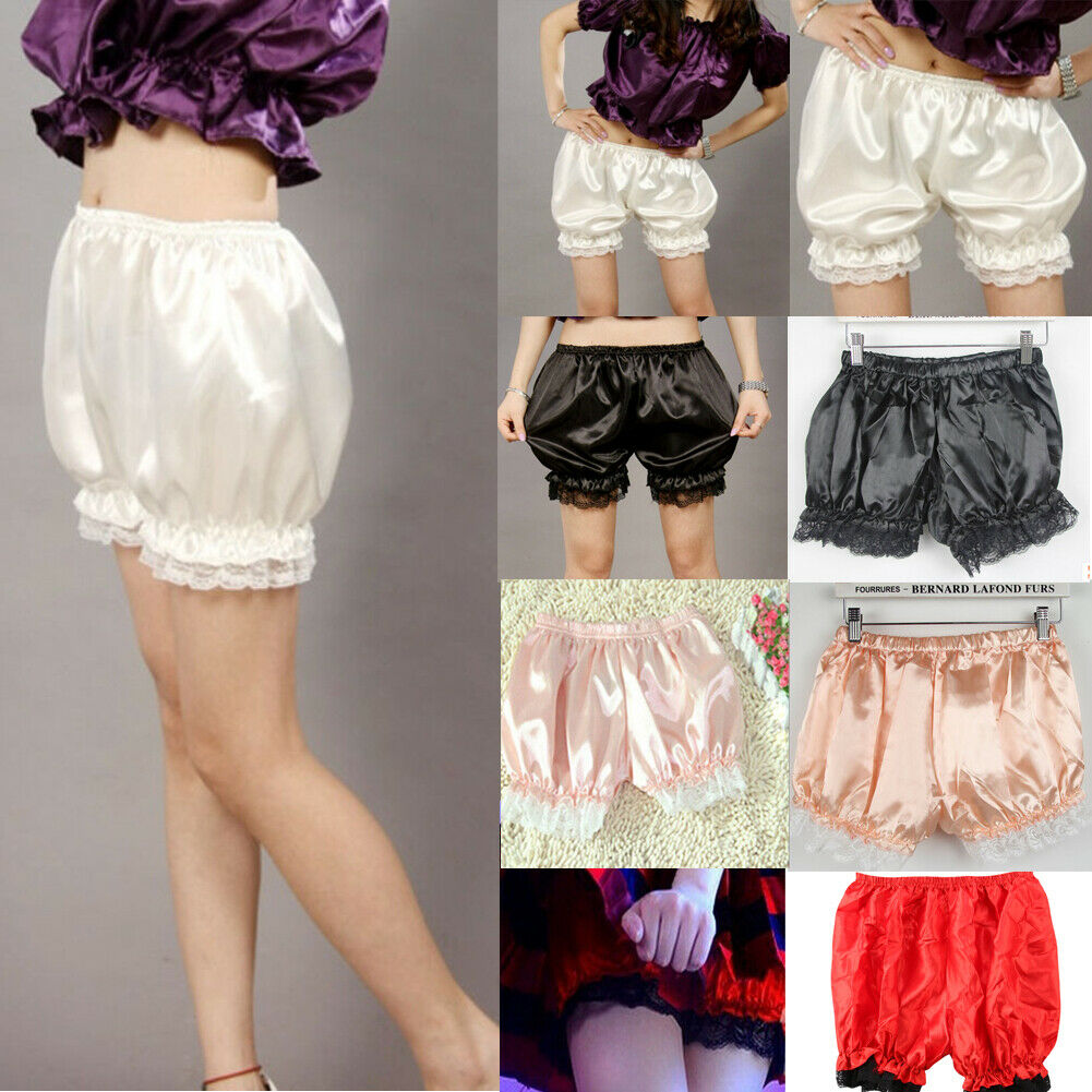 Women Lace Shorts High Waisted Solid Casual Short Pants Elastic Soft Stretch Fitness