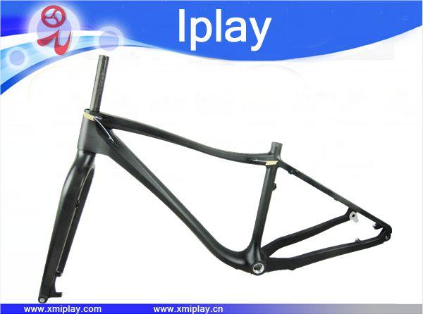 Promotion 26er carbone gros cadre de vélo + fourche BSA carbone cadre de vélo de neige 100mm BB sable cadre de vélo 190/170mm * 12mm espacement arrière