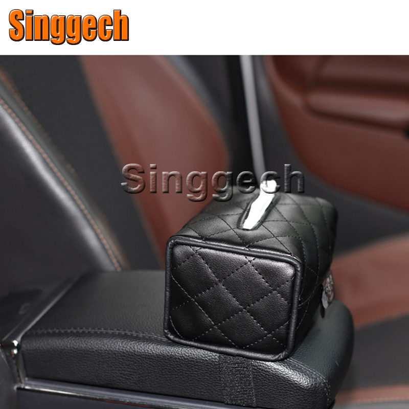 Car Tissue Paper Box Holder For Toyota Corolla Avensis RAV4 Yaris Auris Hilux Prius verso For Buick Excelle Encore Accessories