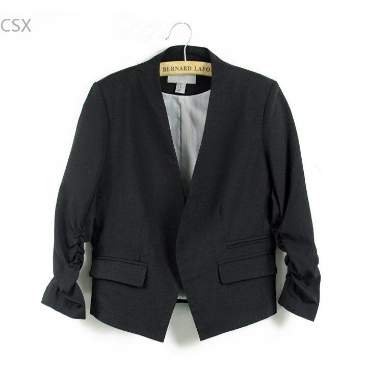 2016 Blazer Frauenklageblazers Faltbare Marke Jacke Aus Baumwolle Mit Futter Candy Farbe Aktualisieren Blazers Kostenloser Versand