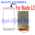 White 100% New LCD DIsplay + Touch Screen Digitizer Replacement For ZTE Blade L3 Go1 Free shipping