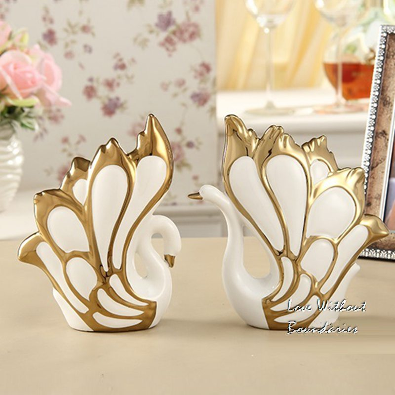 The sitting room decoration arts and crafts  Ceramic swan  Home Decorations   Christmas present  wedding gift  |arts and crafts|decoration art|art decor - title=