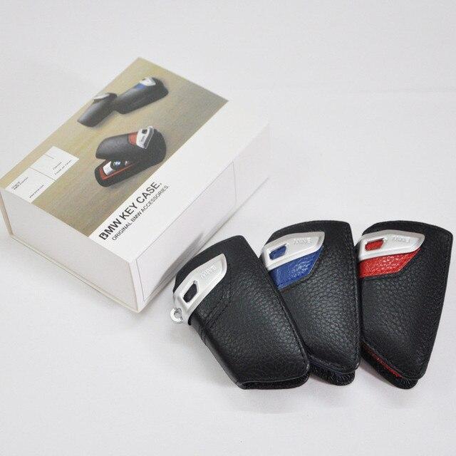 Car logo Keychain Key Wallet Sport key case Ring holder cover bag Leather M emblem key case for bmw E90 F10 F30 F20 X3 X1 X5 X6