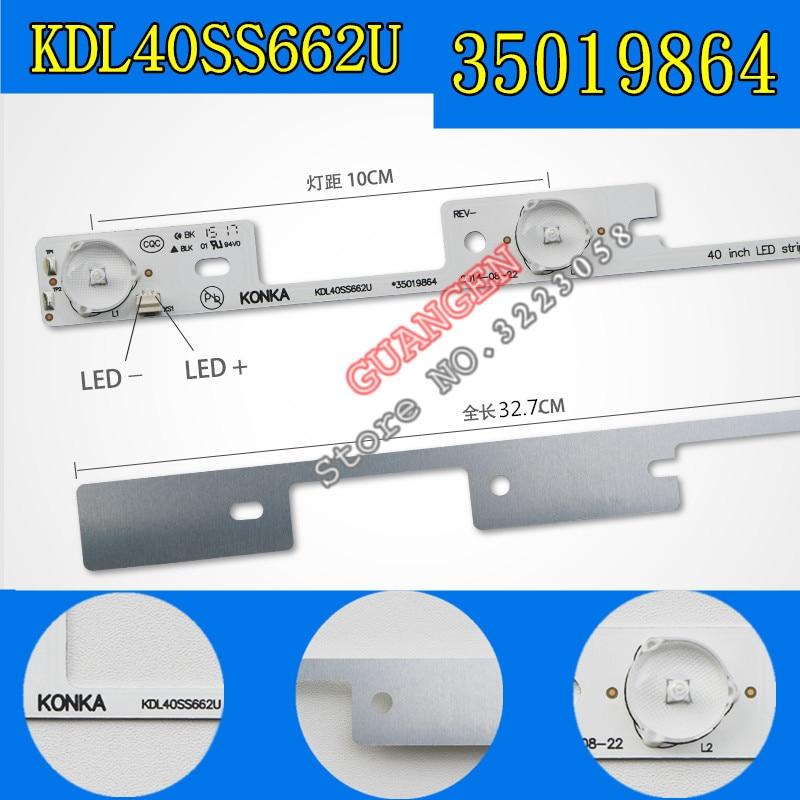 New 100Pieces LED backlight bar for KONKA KDL40SS662U 35019864 327mm 4 LEDs 1 LED 6V