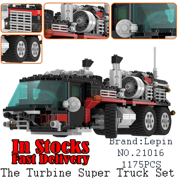 Lepin 21016 1175pcs Technic Series The Turbine Super Truck Set Children Building Blocks Bricks Educational Toys Compatible 5590 compatible city lepin 02005 889pcs the volcano exploration base 02005 building blocks policeman educational toys for children