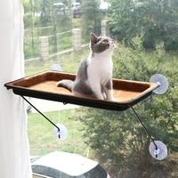 Strong Cute Pet Cat Hanging Beds Cat Sunny house Hang mat Adsorption on the window Mount Pet Dog soft Hammock Pet supplies
