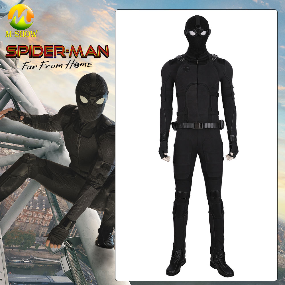 Spider-Man Far From Home Cosplay Costume Spiderman Stealth Suit Jumpsuit Halloween For Men