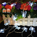 3M 20LED AA Battery Led Lights Butterfly Shape Party WeddingDecorationChristmas light string fairy lightsButterfly Shape  lights